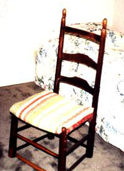 Color photo of ladderback chair